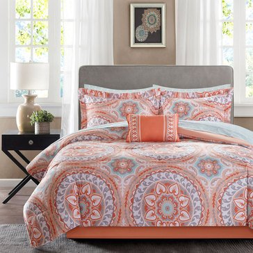 Serenity Coral 24-Piece Comforter Set - King