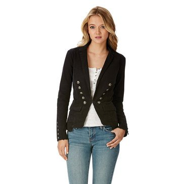 Free People Button Blazer Jacket Black