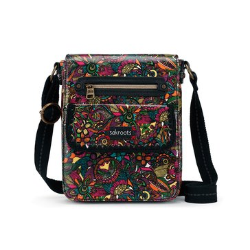 Sakroots Small Flap Messenger Rainbow Spirit Desert