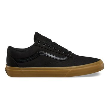 Vans Old Skool Unisex Skate Shoe Black Canvas/ Light Gum