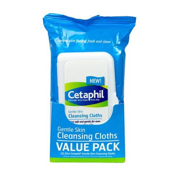 Cetaphil Gentle Skin Cleansing Cloths, 50 Ct