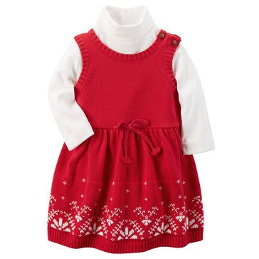Carter's Baby Girls' 2-Piece Jumper and Sweater Set