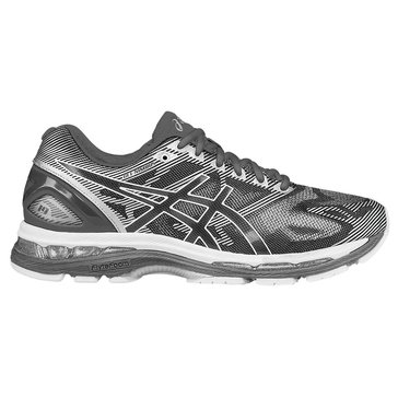 Asics Gel-Nimbus 19 (2E) Men's Running Shoe Carbon/ White/ Silver