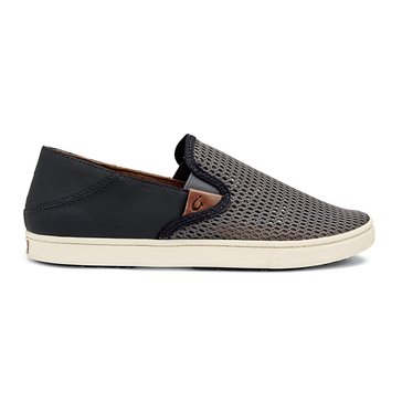 Olukai Pehuea Women's Slip On Sneaker Charcoal/Dark Shadow