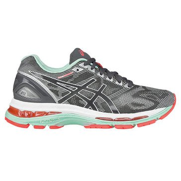 Asics Gel-Nimbus 19 Women's Running Shoe Carbon/ White/ Flash Coral