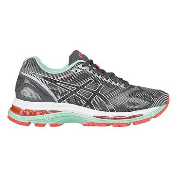 Asics Gel-Nimbus 19 (D) Women's Running Shoe Carbon/ White/ Flash Coral