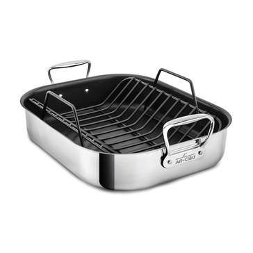 All Clad Large Non-Stick Roaster with Rack
