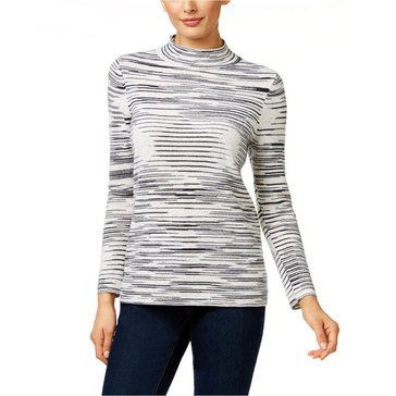 Charter Club Cashmere Spacedye Mock Neck Pullover