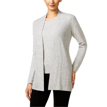 Charter Club Cashmere Sequin Duster in Heather Crystal