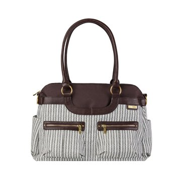 JJCole Diaper Bag Satchel, Dashed Stripe