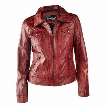 Guess Women's 4 Pocket Leather Jacket