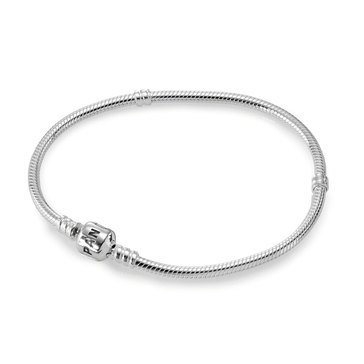 Pandora Iconic Silver Charm Bracelet, Size 6.3in