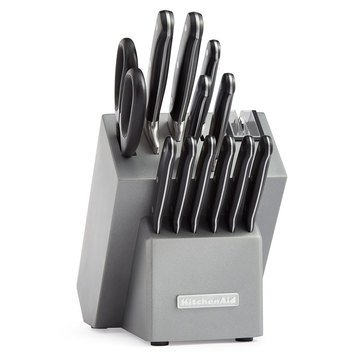 KitchenAid 14-Piece Triple Rivet Cutlery Block Set