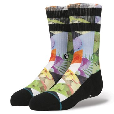 Stance Little Boys' Triad Crew Socks, Size 2.5-5