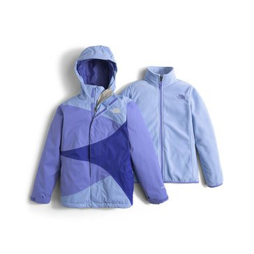 The North Face Big Girls' Mountain View Triclimate Jacket, Grapemist Blue