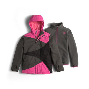 The North Face Big Girls' Mountain View Triclimate Jacket, Cabaret Pink