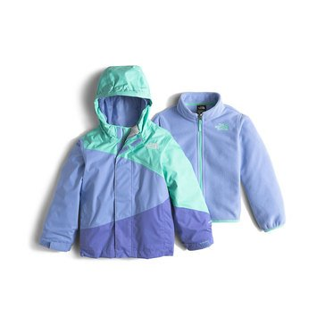 The North Face Toddler Girls' Mountain View Triclimate System Jacket, Ice Green