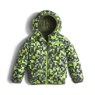 The North Face Toddler Boys' Reversible Thermoball Hoodie, Safety Green Pixel Print