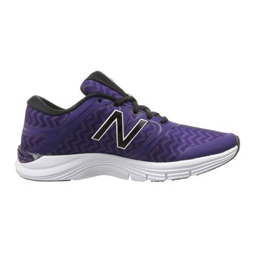 New Balance WX711DG2 Women's Training Shoe Black Plum/ ZigZag Violet Glo Graphic/ Bleached Sunrise