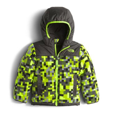 The North Face Toddler Boys' Reversible True or False Jacket, Safety Green Pixel Print