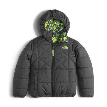 The North Face Big Boys' Heavy Weight Reversible Perrito Jacket, Graphite Grey