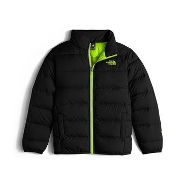 The North Face Boys' Heavy Weight Andes Jacket, TNG Black/Safety Green