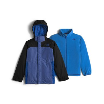 The North Face Big Boys' Heavy Weight Vortex Triclimate Jacket, Honor Blue Heather