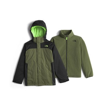 The North Face Big Boys' Heavy Weight Vortex Triclimate Jacket, Terrarium Green