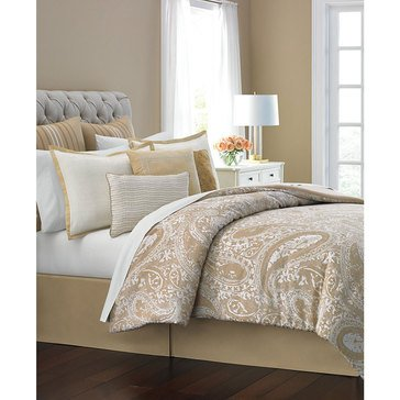 Martha Stewart Collection Guilded Paisley 10-Piece Comforter Set - Queen
