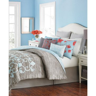 Martha Stewart Collection Camille 10-Piece Comforter Set - Queen