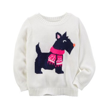 Carter's Toddler Girls' Scotty Dog Sweater