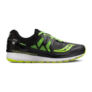 Saucony Hurricane ISO 3 Men's Running Shoe Grey/ Black/ Citron