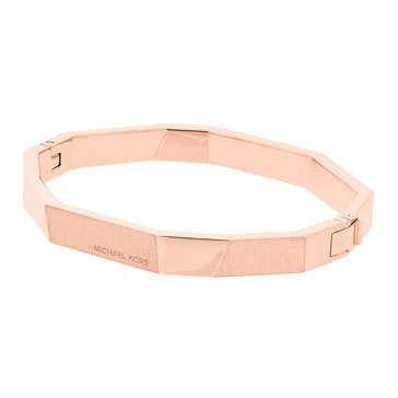 Michael Kors Rose Gold Tone 'Urban Rush' Faceted Hinge Bangle