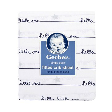 Gerber Baby Boys' Fitted Crib Sheet, Hello Little One