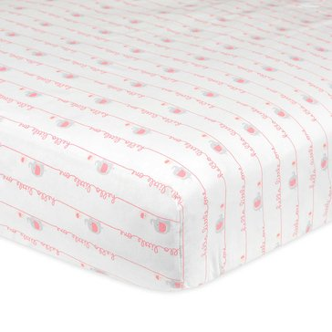 Gerber Baby Girls' Fitted Crib Sheet, Hello Little One