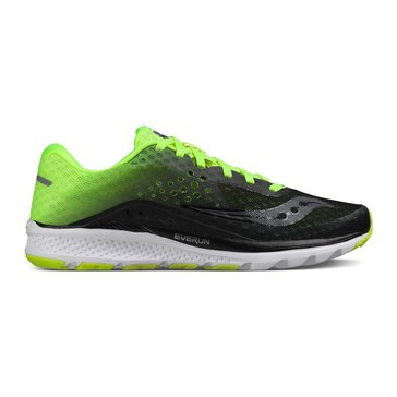 Saucony Kinvara 8 Men's Running Shoe Black Citron