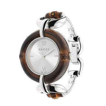 Gucci Women's Bamboo Stainless Steel Bangle bracelet Watch 35mm