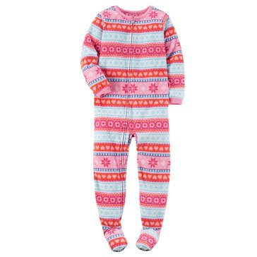 Carter's Little Girls' Fairisle Fleece Pajamas