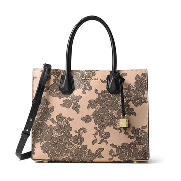 Michael Kors Lace Mercer Large Convertible Tote Oyster