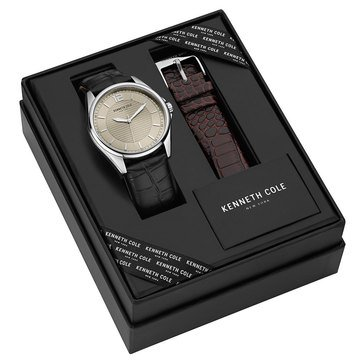 Kenneth Cole Men's Watch and Interchangeable Strap Boxed Set 44mm