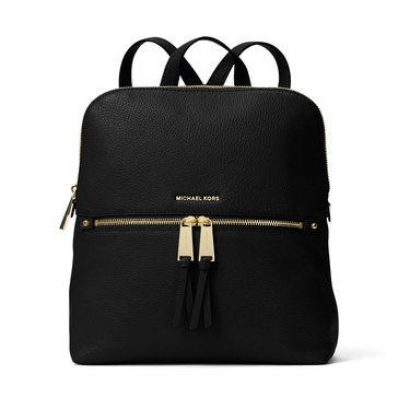 Michael Kors Rhea Zip Medium Slim Back Pack Black