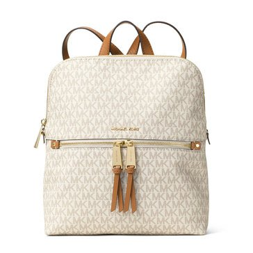 Michael Kors Rhea Zip Medium Slim Bakc Pack Vanilla