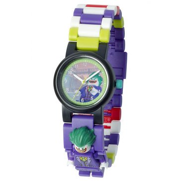LEGO Kids' Superhero The Joker Mini Figure Link Watch
