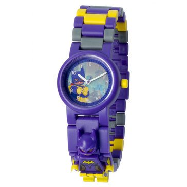 LEGO Kids' DC Superhero Batgirl Mini Figure Link Watch