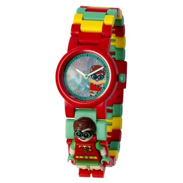 LEGO Kids' DC Superhero Robin Mini Figure Link Watch