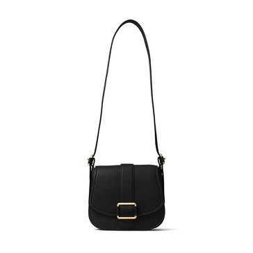 Michael Kors Maxine Large Saddle Bag Black