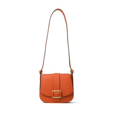 Michael Kors Maxine Large Saddle Bag Orange
