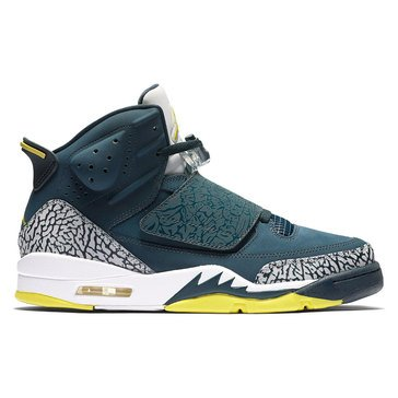 Jordan Son of Mars Low Men's Basketball Shoe Armory Navy/ Electrolime/ White/ Wolf Grey