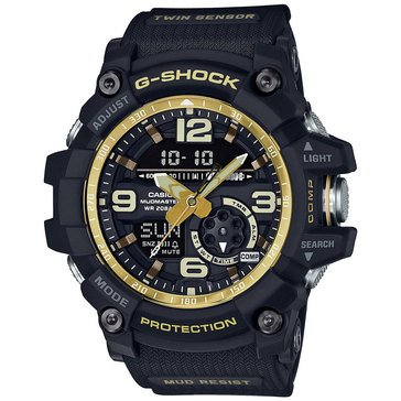 Casio G-Shock Men's Master of G MudMaster Watch GG1000GB-1A, Gold/ Black 55.3mm