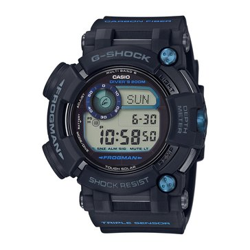 Casio G-Shock Men's Master of G Frogman Solar Diver's Watch GWFD1000B-1, Blue/ Black 59mm